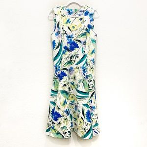 Calvin Klein Floral Sleeveless Scuba Dress Sz 10